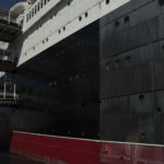 This ship is a hotel that is currently in operation, so sandblasting is not an option.