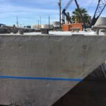 Both products were applied  above and below the waterline.