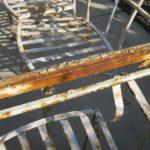 BEFORE: Damaged powder coat