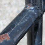 Rusted railing