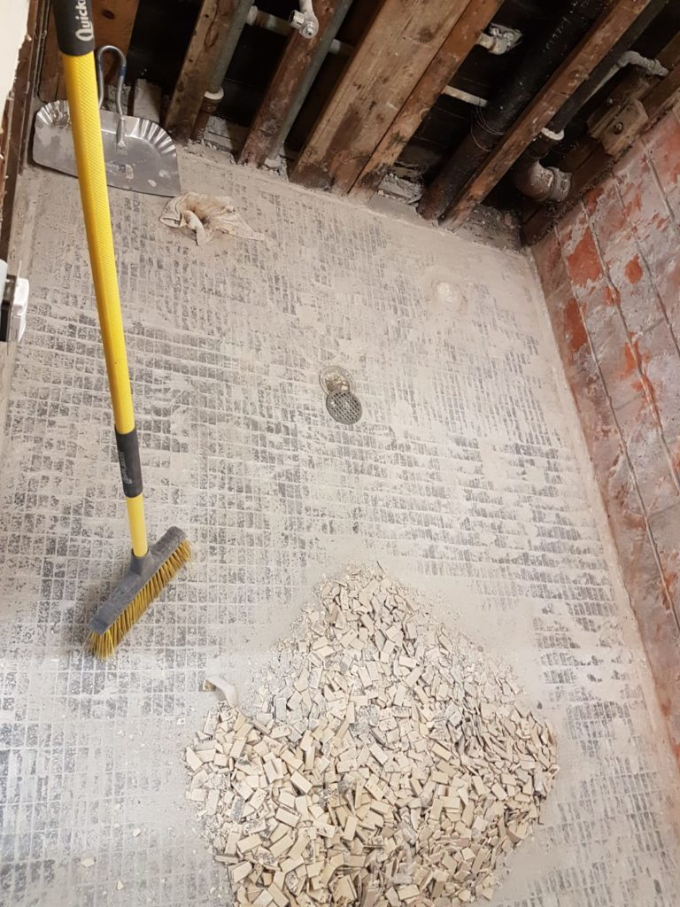 removing old flooring tiles