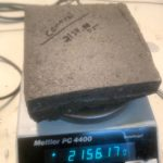 CONTROL - Dry Weight: 2124.05 grams / Wet Weight: 2156.17 grams