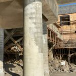 Fully repaired foundation column